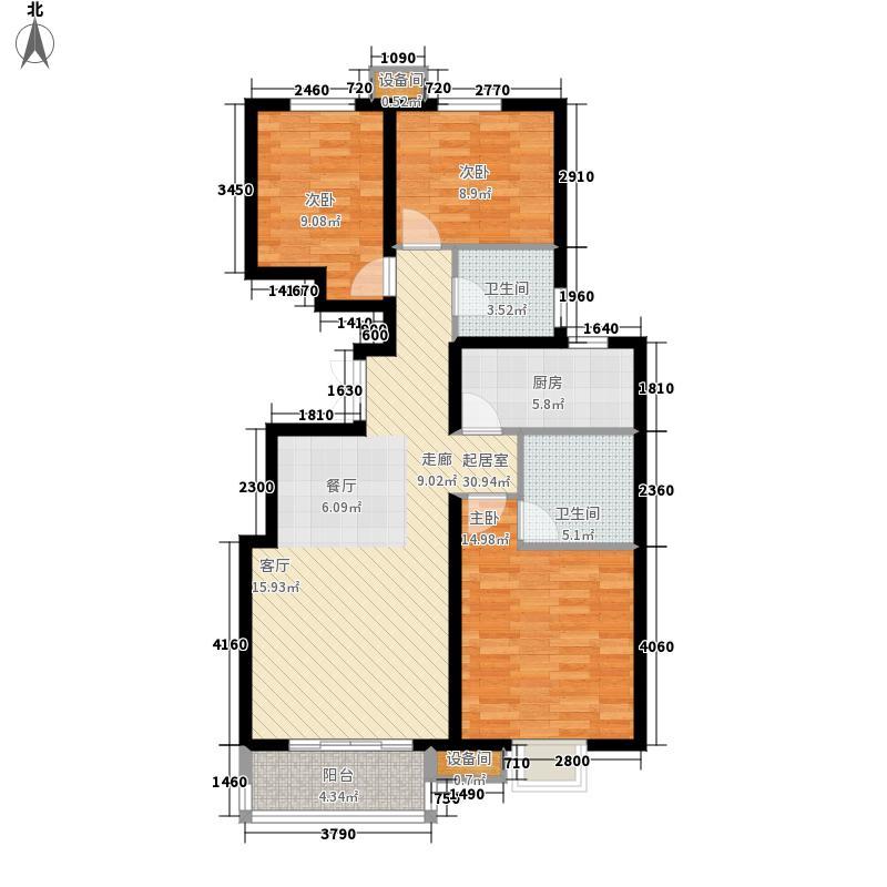 新天地美域1402-1404楼、1416-1418楼H-2户型