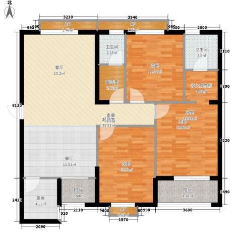 都市馨园2室0厅2卫1厨142.00㎡户型图