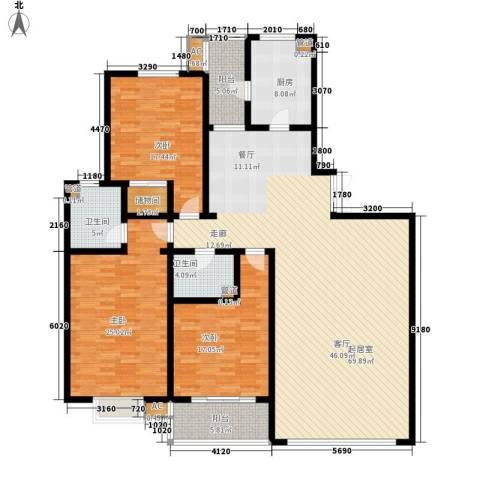 新友合康城3室0厅2卫1厨180.00㎡户型图