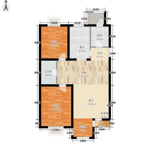 第六大道第博雅园2室0厅1卫1厨113.00㎡户型图