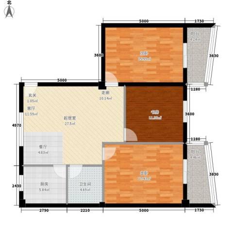 双龙小区3室0厅1卫1厨129.00㎡户型图