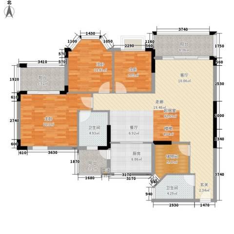 花样年华3室0厅2卫1厨127.00㎡户型图