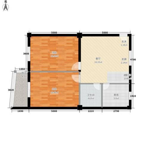 双龙小区2室0厅1卫1厨97.00㎡户型图