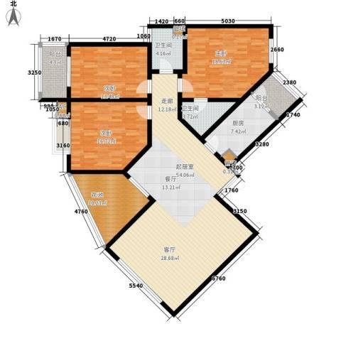 新友合康城3室0厅2卫1厨163.00㎡户型图