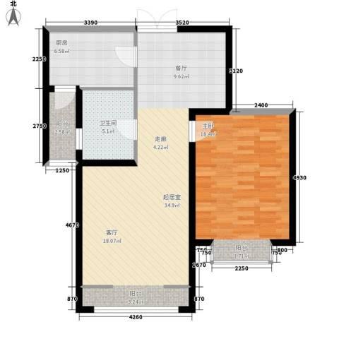 馨月湾1室0厅1卫1厨74.00㎡户型图
