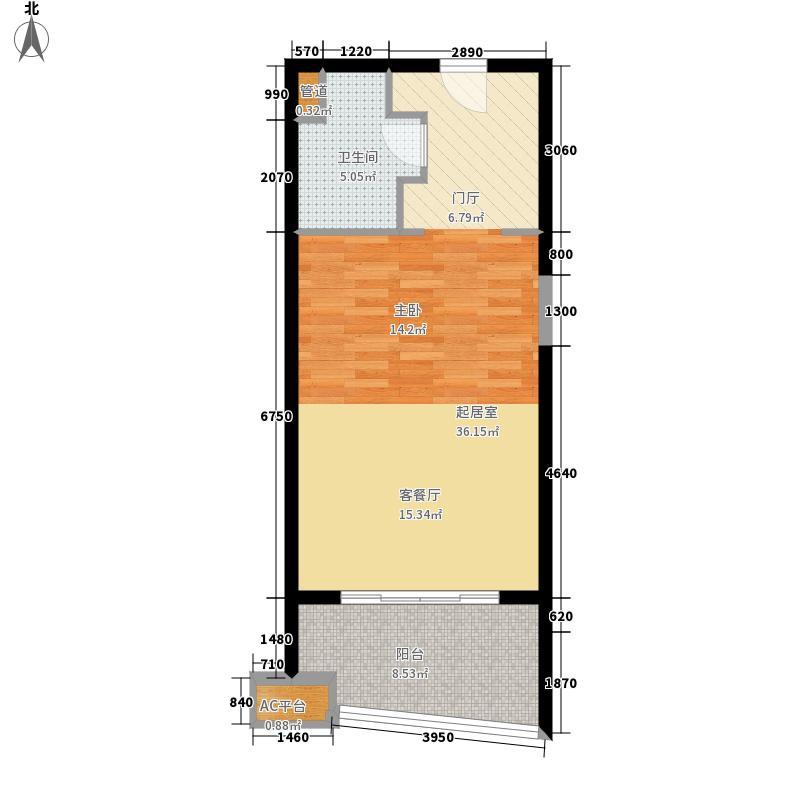 博鳌宝莲城57.14㎡藏海公寓B02-09户型