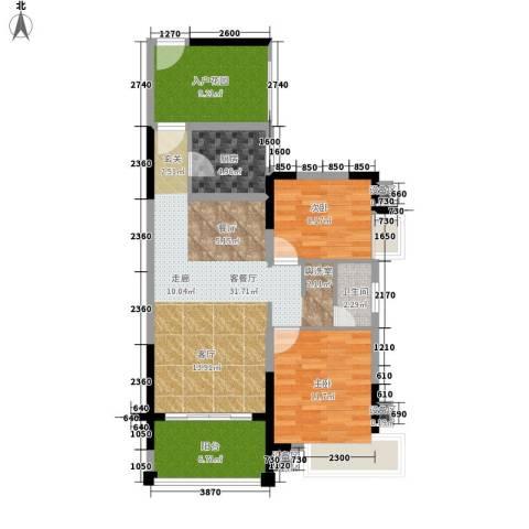格澜郡2室1厅1卫1厨89.00㎡户型图