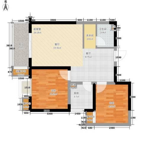 幸福美地2室0厅1卫1厨83.00㎡户型图