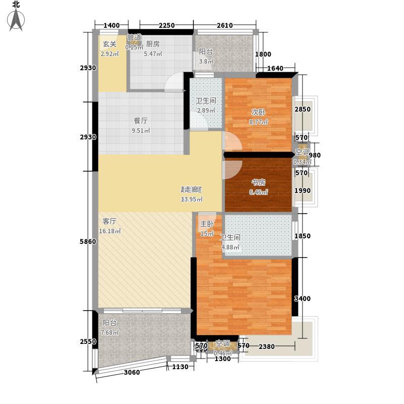 新塘广场123.00㎡A1栋03、04单元面积12300m户型