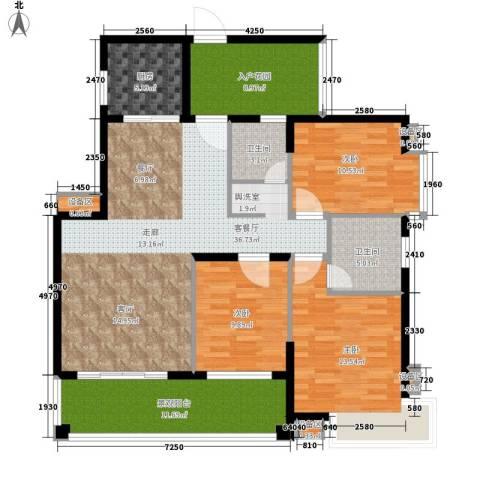 格澜郡3室1厅2卫1厨121.00㎡户型图