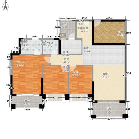 锦绣新天地3室0厅2卫1厨133.00㎡户型图