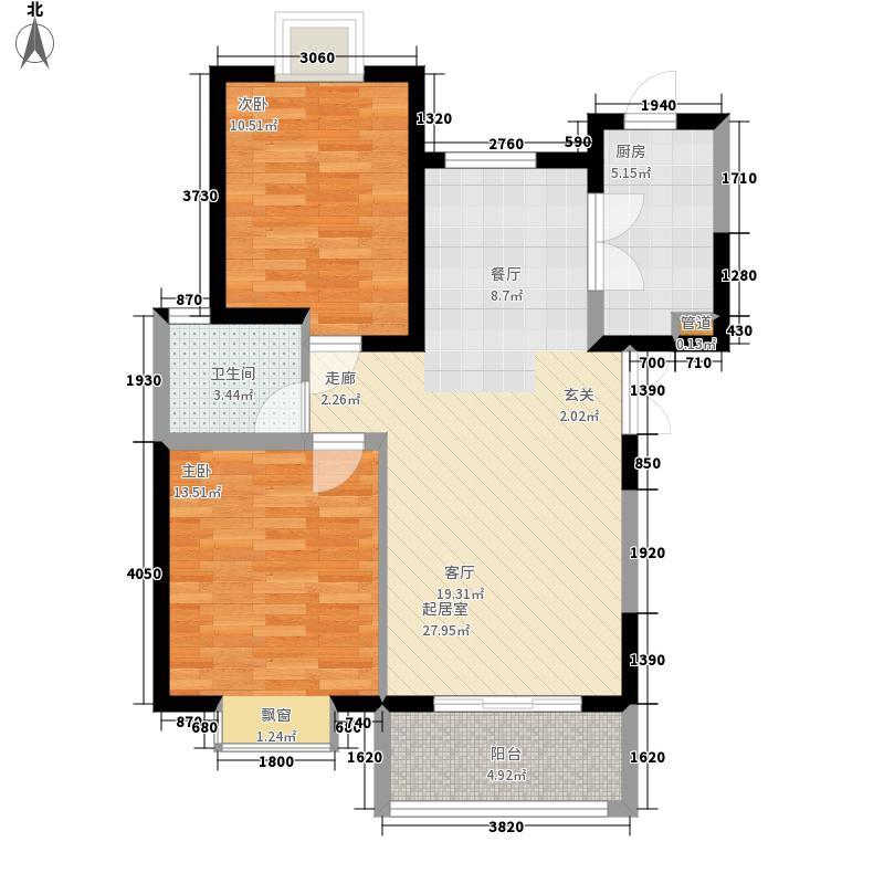中登文景时代94.83㎡7#楼C面积9483m户型