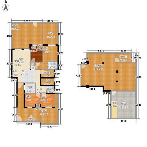 金地未未来4室1厅2卫1厨214.73㎡户型图