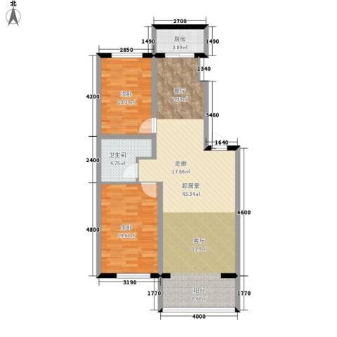 西城首府2室0厅1卫1厨106.00㎡户型图