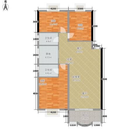 中星苑3室0厅2卫1厨131.00㎡户型图