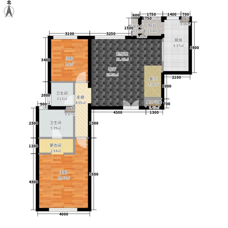 华彩国际公寓7号楼B5反户户型