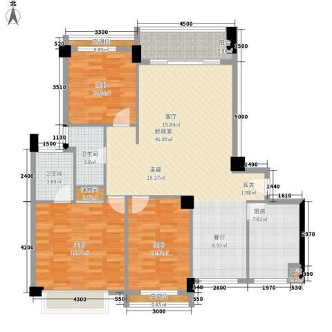 天泽一方3室0厅2卫1厨132.00㎡户型图