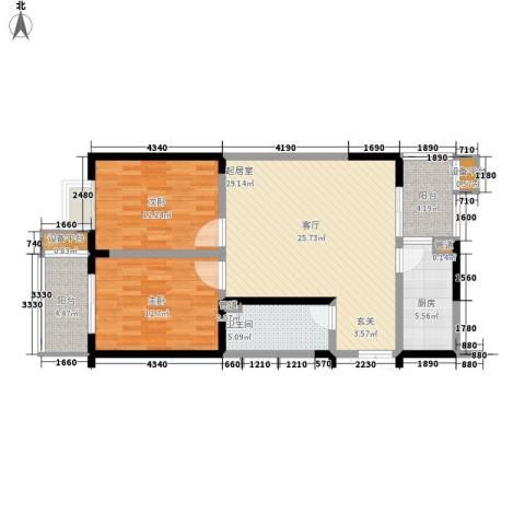 幸福美地2室0厅1卫1厨87.00㎡户型图