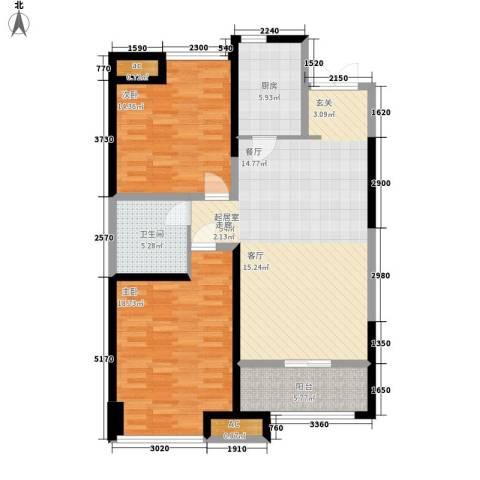 世融嘉轩2室0厅1卫1厨98.00㎡户型图