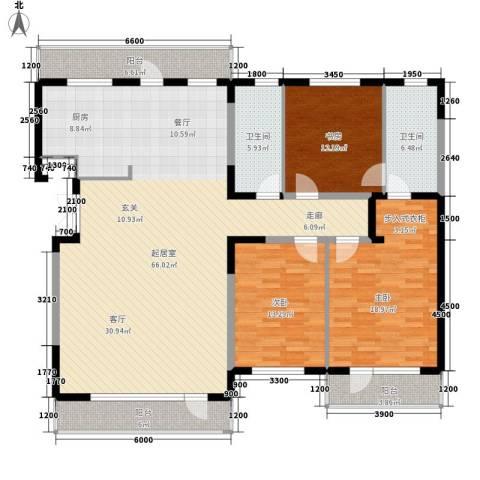 锦园小区3室0厅2卫0厨194.00㎡户型图