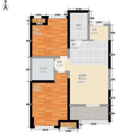 世融嘉轩2室0厅1卫1厨97.00㎡户型图