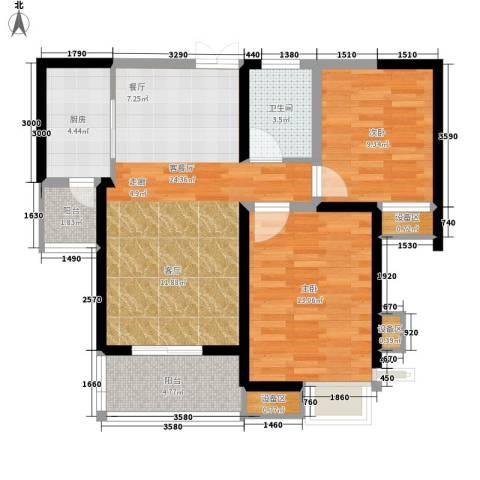 3507家属院2室1厅1卫1厨63.18㎡户型图