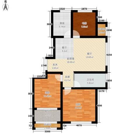 鄂教小区3室0厅1卫1厨114.00㎡户型图