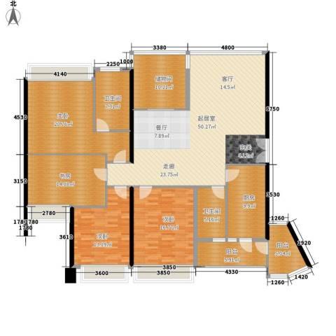 中海蓝湾4室0厅2卫1厨175.00㎡户型图