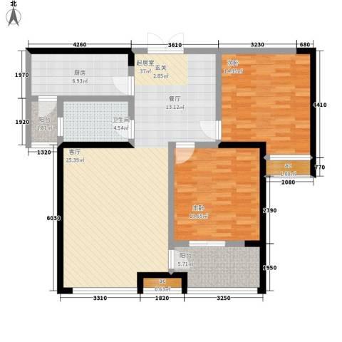 世融嘉轩2室0厅1卫1厨99.00㎡户型图
