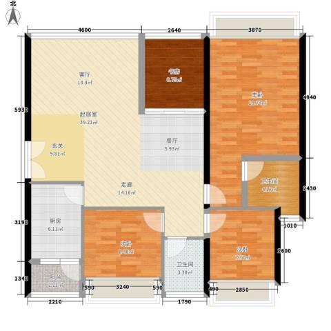 中海蓝湾4室0厅2卫1厨137.00㎡户型图