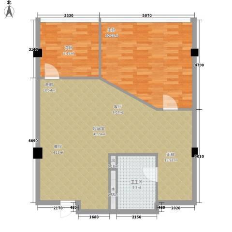 五一新干线2室0厅1卫0厨106.00㎡户型图
