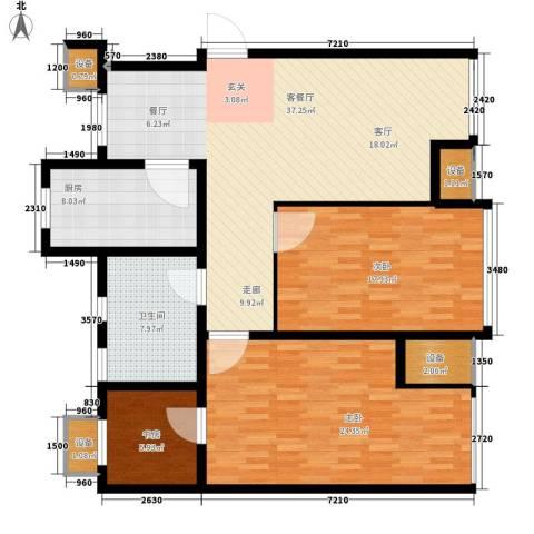 滨旅煦园3室1厅1卫1厨106.50㎡户型图
