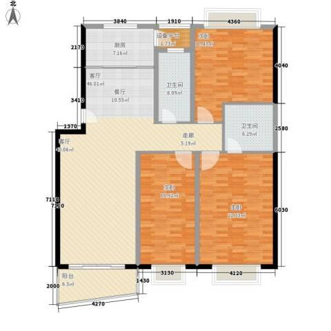 振华苑3室1厅2卫1厨149.00㎡户型图