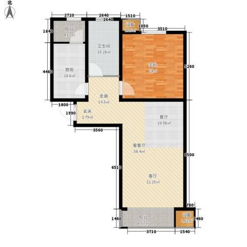 滨旅煦园1室1厅1卫1厨108.37㎡户型图