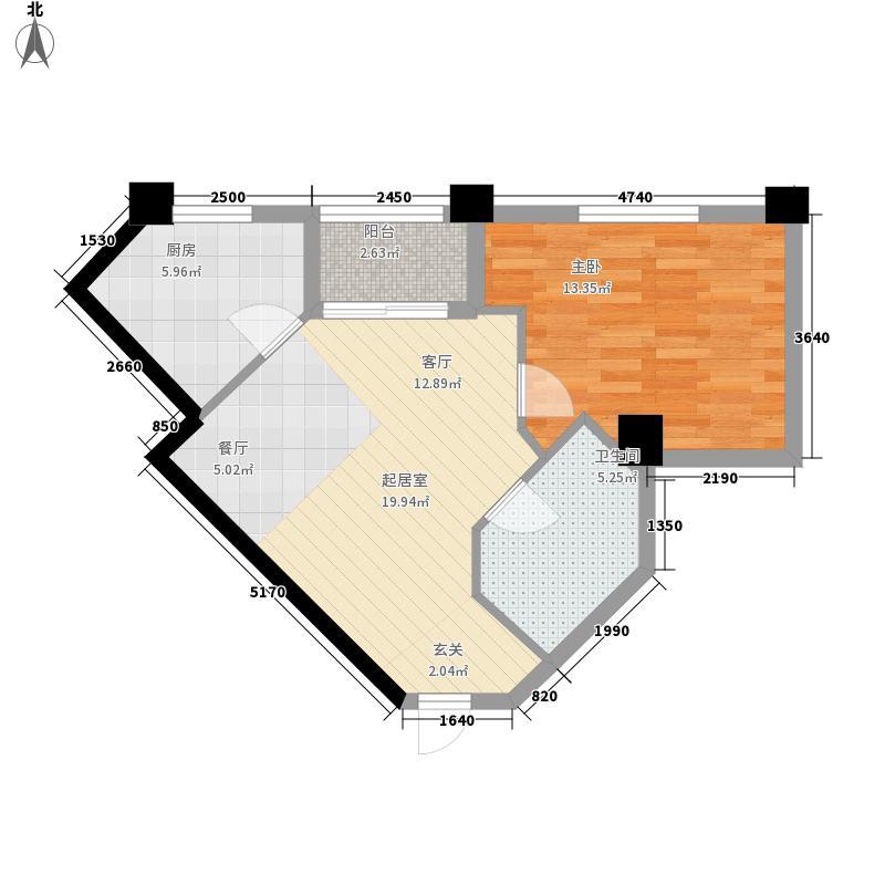 汇金国际公寓70.27㎡A面积7027m户型