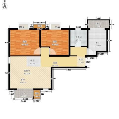 滨旅煦园2室1厅1卫1厨107.97㎡户型图