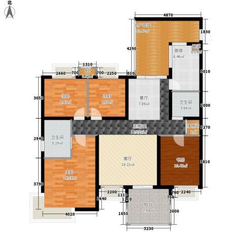 玲珑南域4室0厅2卫1厨134.00㎡户型图