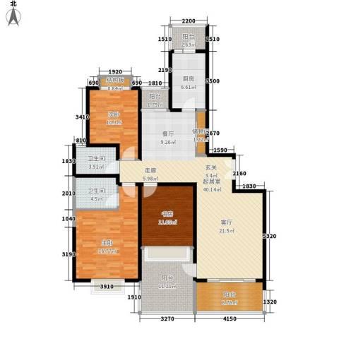 华明家园3室0厅2卫1厨167.00㎡户型图