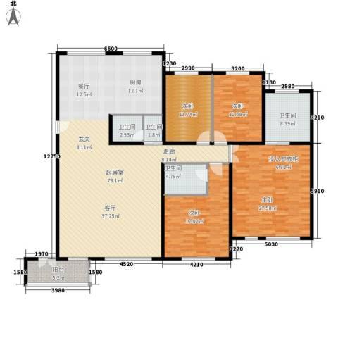 海逸长洲瀚波园4室0厅4卫0厨233.00㎡户型图