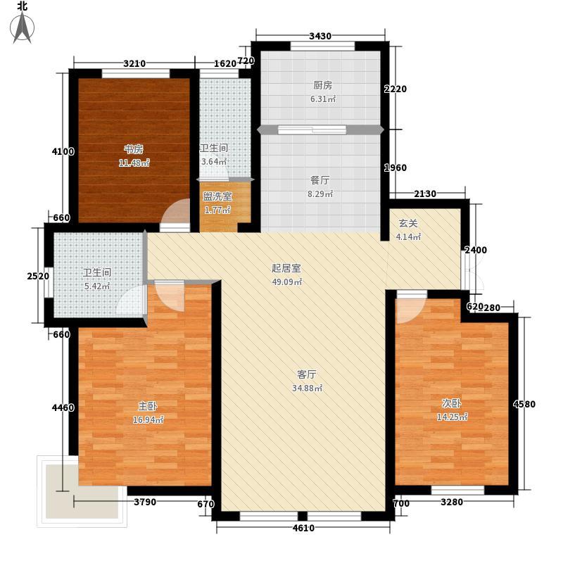 萨尔斯堡156.01㎡37#楼西单元A3室户型