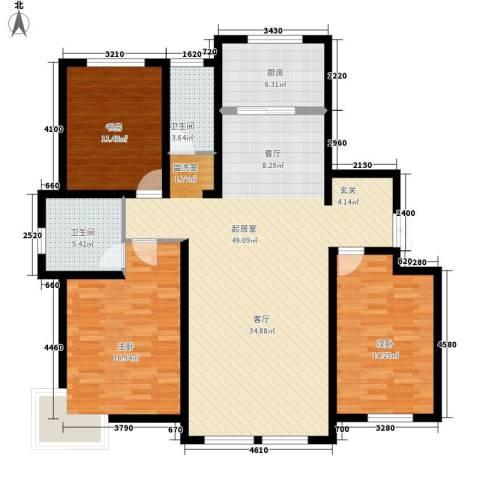 萨尔斯堡3室0厅2卫1厨156.00㎡户型图