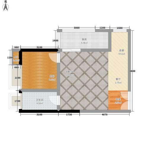 融鑫园小区1室0厅1卫1厨83.00㎡户型图