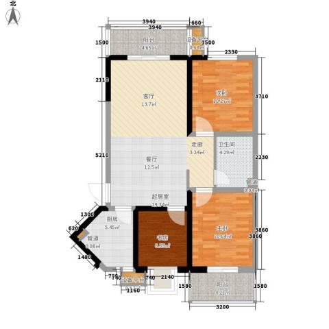幸福美地3室0厅1卫1厨110.00㎡户型图