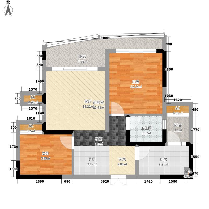 西江月75.12㎡3期4栋、5栋、6栋面积7512m户型