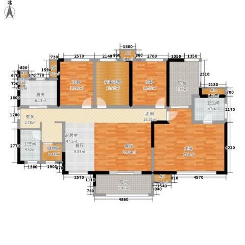 金玉小区3室0厅2卫1厨203.00㎡户型图