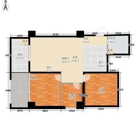 御笔华章3室1厅1卫1厨163.48㎡户型图