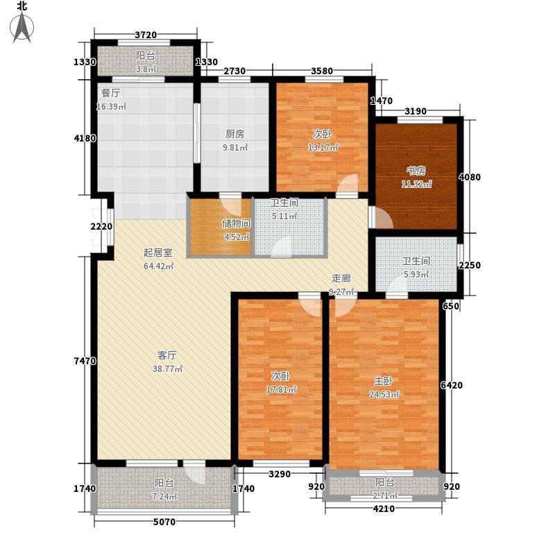 萨尔斯堡219.41㎡15#楼东单元B4室户型