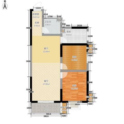 幸福美地2室0厅1卫1厨98.00㎡户型图