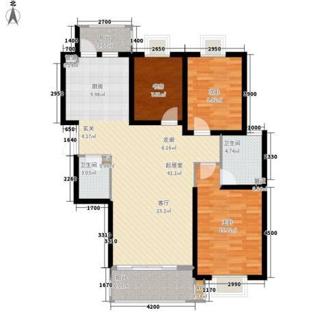 金色锦城3室0厅2卫0厨122.00㎡户型图