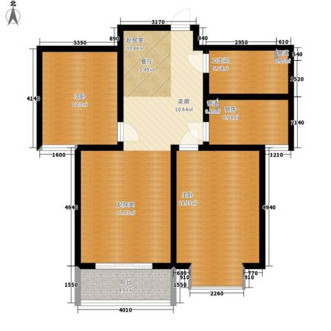 顺美华庭2室0厅1卫1厨91.00㎡户型图